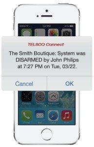 TELSCO Security App Notification